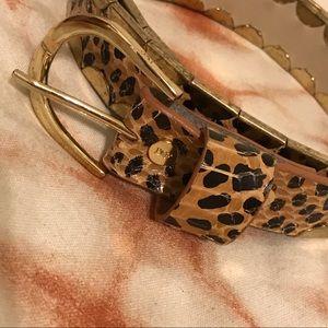 DVF leopard belt
